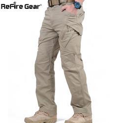 IX9 город тактические карго штаны Для мужчин боевая группа захвата армейские военные брюки из хлопка много карманов эластичные гибкие