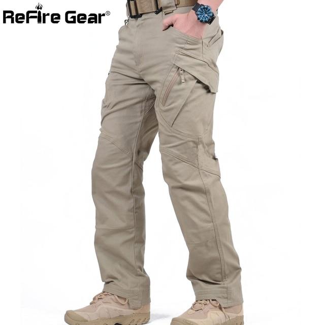IX9 City Tactical Cargo Pants Men Combat SWAT Army Military Pants Cotton Many Pockets Stretch Flexible Man Casual Trousers XXXL