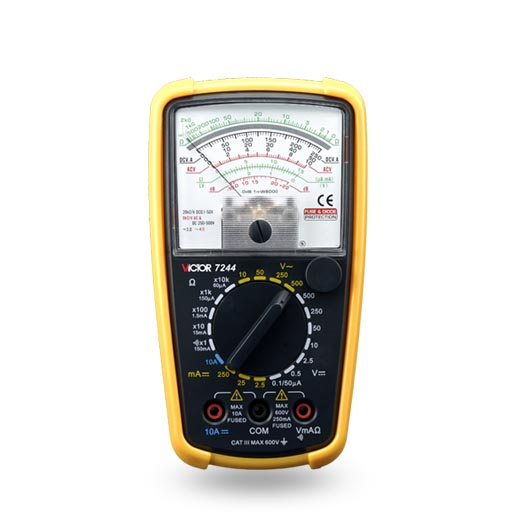 цены  VICTOR 7244 Analogue Analog Multimeter Portable MULTITESTER Electrical Meter Ammeter Voltmeter