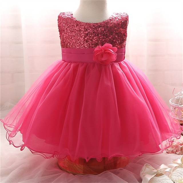 b4acbcfad Ai Meng Baby Toddler Girl Dress Gold Sequins 1 Year Birthday Baby ...