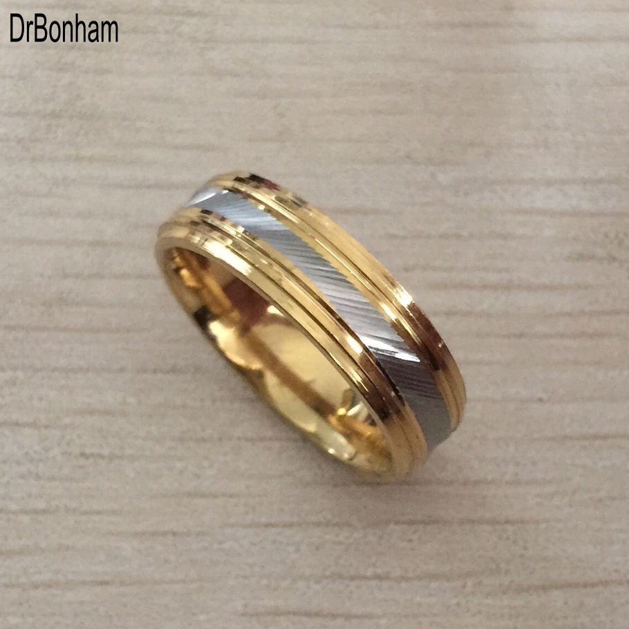 Punk Rock Style Gold Silver Ring Mens Fashion Chunky