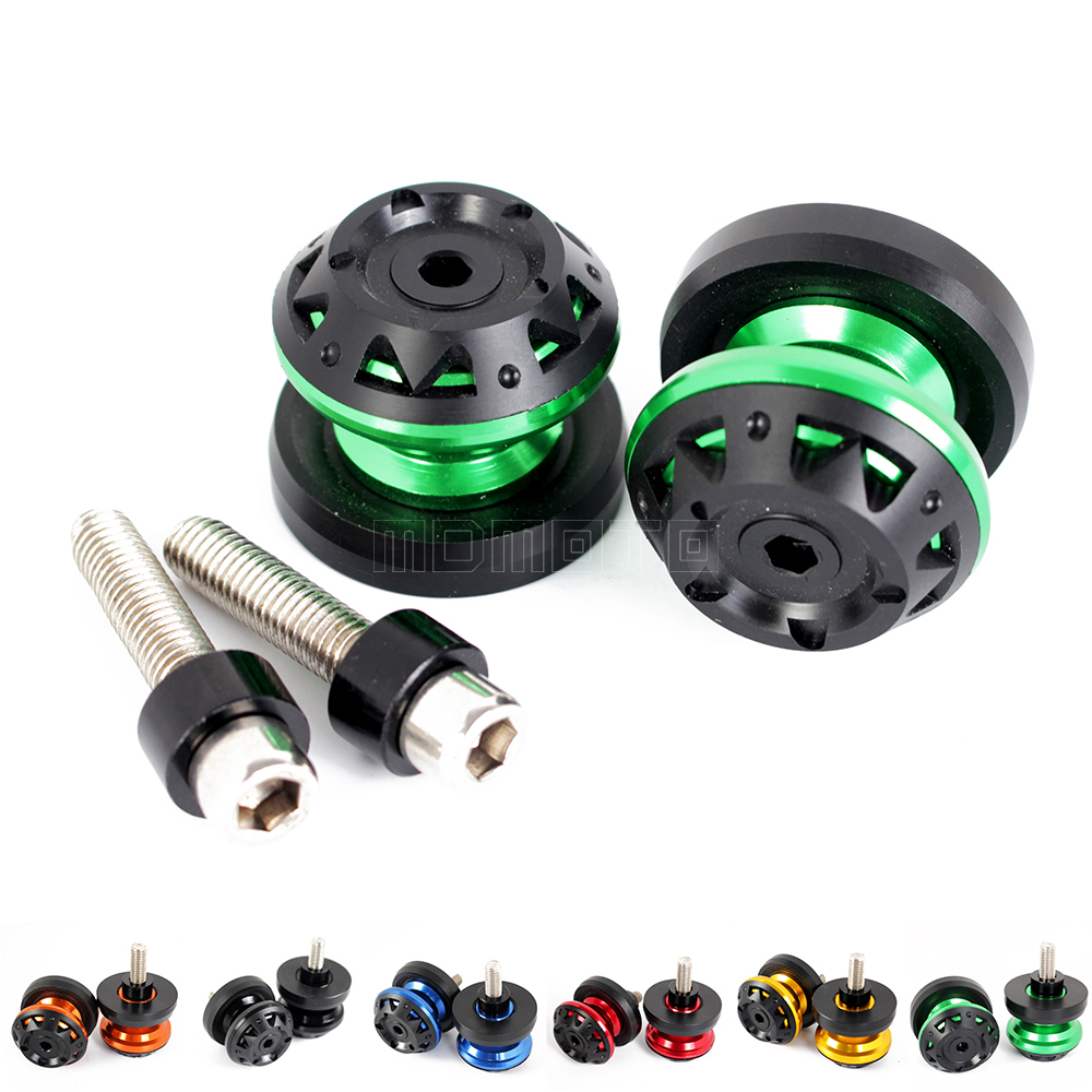 CNC motorcycle M8 for kawasaki zx6r Z800 Z1000 ZX10R ZX 10R 6R VERSYS 650 15-16 Swingarm Spools Slider Protectors stands Screw for kawasaki z800 z1000 zx 6r zx 10r kle 650 versys motorcycle accessories swingarm spools slider 8mm stand screws blue