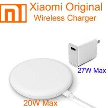 Original Xiaomi cargador inalámbrico 20W 30W Turbo máx. Carga de mi CC9 10 (20 W) Qi PPE Compatible 10W para iPhone 11 Pro XS XR XS.
