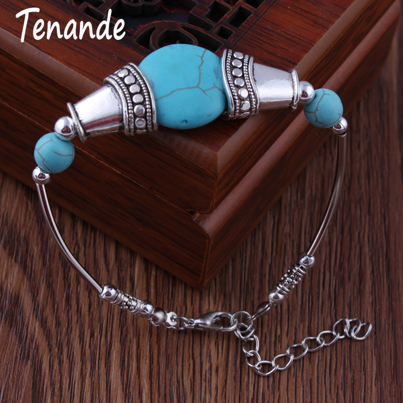Tenande Maxi Natural Stone Beads Geometric Patterns Bracelets & Bangles for Women Bohemian Jewelry Accessories