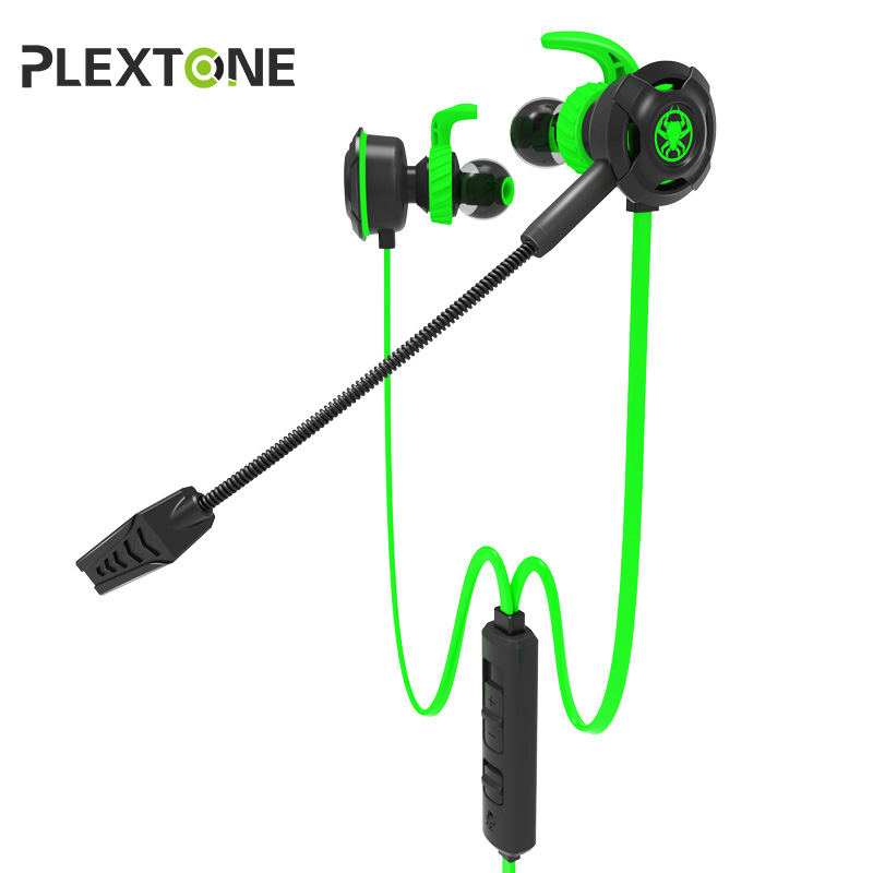 PLEXTONE G30 Gaming Headset For Gamer Stereo With Dual Microphone In-ear Earbuds Bass Wired Earphone For Phone Computer PS4 misr a8 earphone for phone wired in ear headset with mic microphone volume control stereo bass metal earbuds 3 5mm jack