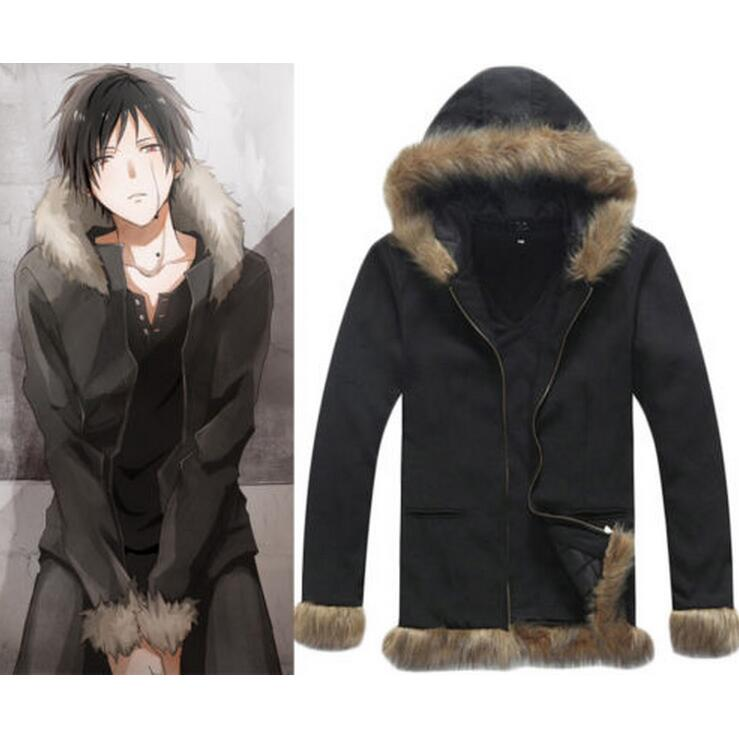 Durarara Izaya Orihara Cosplay Costume Black Coat FANCY Jacket Sweatshirts