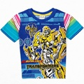 2016 transformador meninos camiseta 100% algodão crianças camisetas roupas da moda verão t-shirt roupa dos miúdos top tee