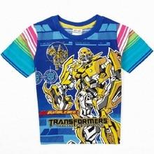 2016 transformer boys t shirt 100% cotton children t shirts clothing fashion summer t-shirt kids clothes top tee