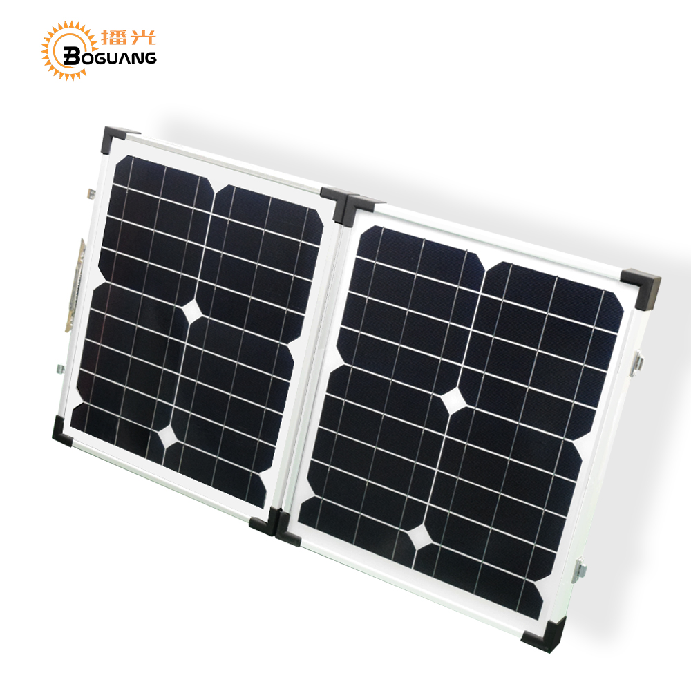 Boguang 40w 18v foldable solar panel 2*20w Portable Solar charger Monocrystalline cell module 10A USB controller 12v battery free shipping 1pc lot 18w 18v foldable solar battery charger for laptop with usb voltage controller for mobilephone mp3 psp