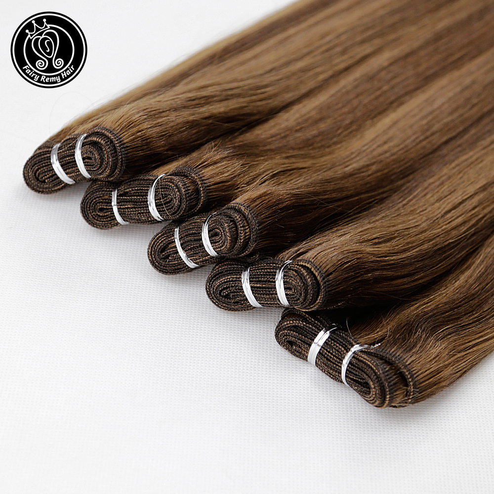 Remy Human Hair Weft 10A Indian Weaves Bundles Straight Hair Extension Piano Color P4/8 120g/piece 18 Inch Fairy Remy Hair