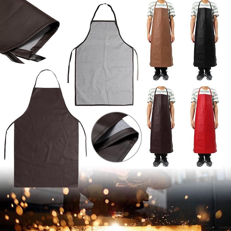 1 Stks Pu Lederen Lassen Schort Apparatuur Lasser Bescherming Warmte Isolatie Schort Keuken Werkkleding Om Een Ongewoon Uiterlijk Zeker Te Stellen