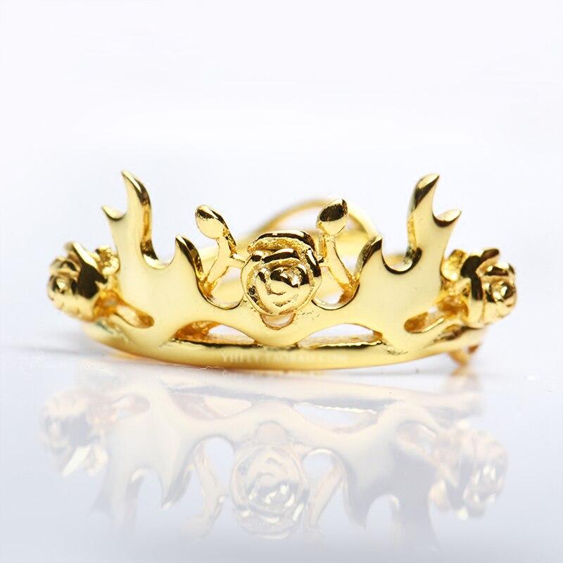 3 couleurs Game of Thrones Margaery Tyrell anneau 925 argent Rose cerf bois couronne anneau femmes romantique cadeau une chanson de glace et de feu