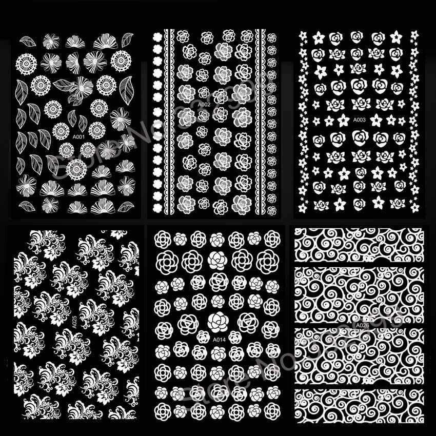 Новое поступление маникюрный дизайн 3D стикер для ногтей Наклейка на заднюю панель дизайн белая наклейка роскошные украшения для ногтей