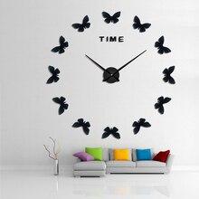 Gratis VerzendingDiy 3d Acryl Spiegel sticker Large Home Quartz Circulaire Naald Modern New Wall Clock Clocks Watch Horloge Murale