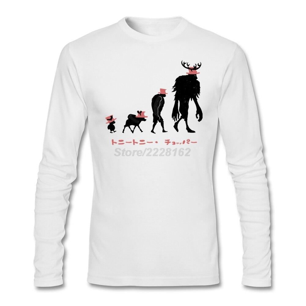 White t shirt for design - Unique Design T Shirt For Men Dj Adult Shirt Chopper Evolution Fabic Cotton Tony Tony Chopper