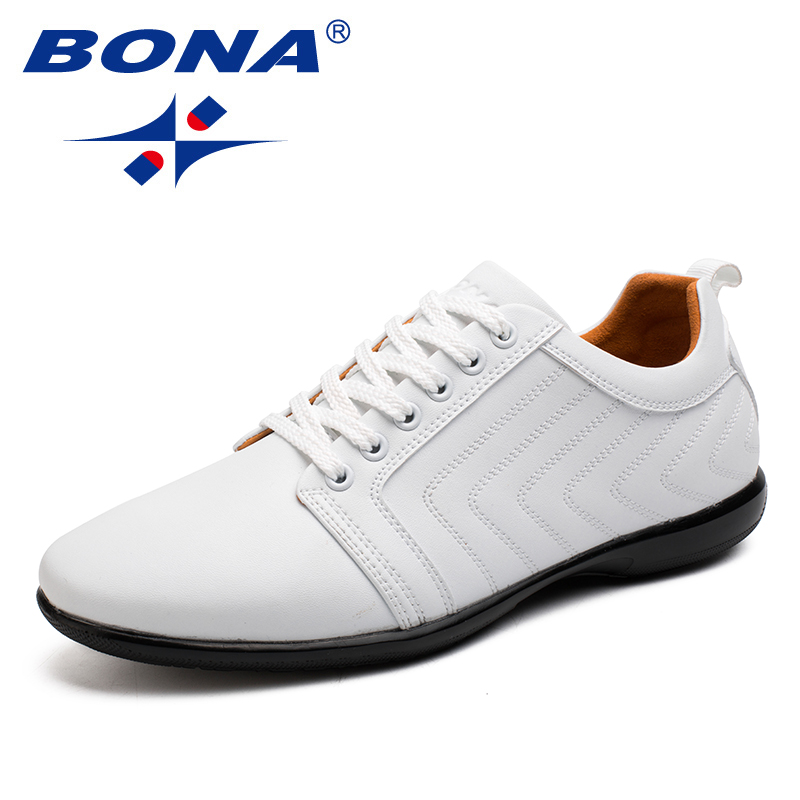 Image 2 - BONA New Classics Style Men Casual Shoes Lace Up Breathable Men  Shoes Light Soft Male Flat Shoes Comfortable Fast Free Shippingshoes  comfortshoe lacesshoe laces free shipping
