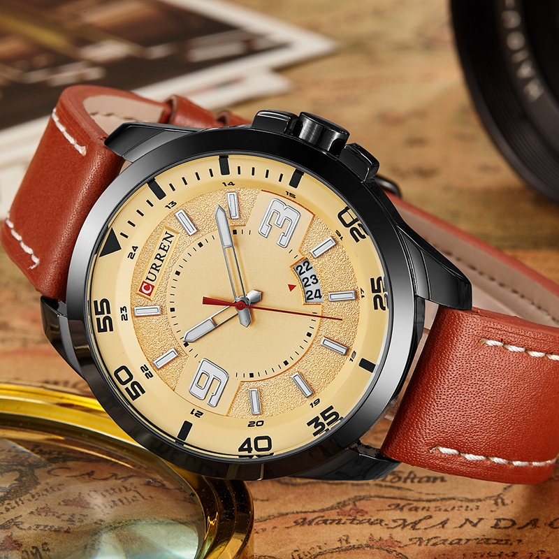 New Watches Men Luxury Top Brand CURREN Fashion Men's Big Dial Designer Quartz Watch Male Wristwatch relogio masculino relojes carnival watches men luxury top brand new fashion men s big dial designer quartz watch male wristwatch relogio masculino relojes page 5