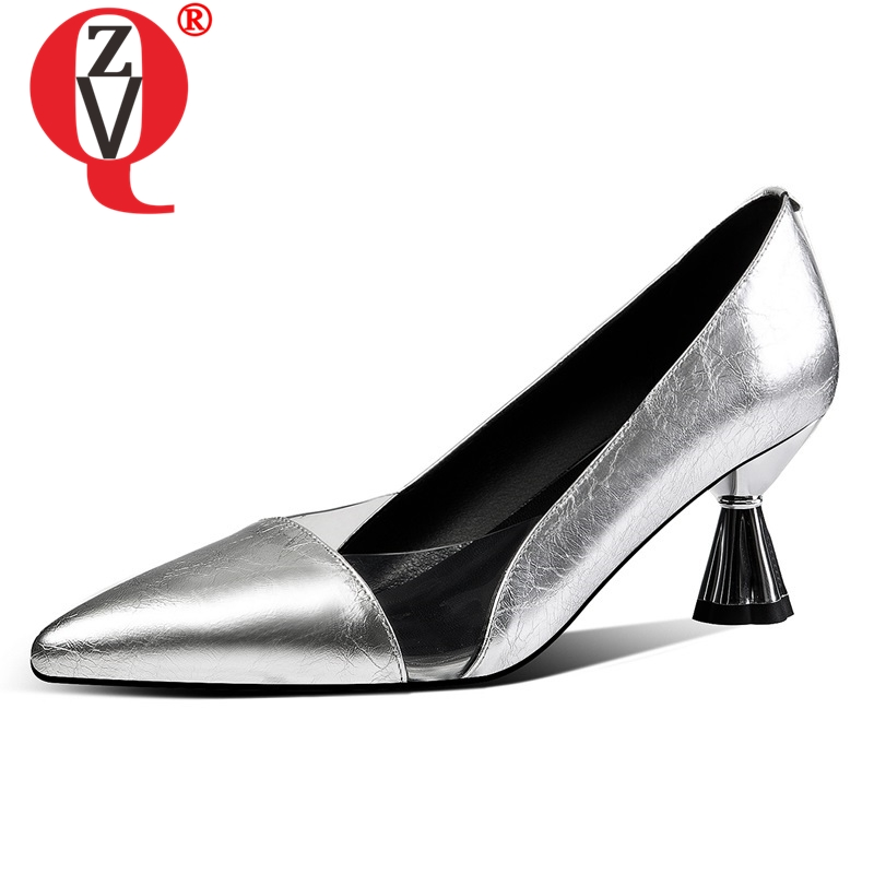 ZVQ <font><b>hot</b></font> <font><b>sale</b></font> woman shoes 2019 <font><b>summer</b></font> new fashion <font><b>sexy</b></font> pointed toe genuine leather woman pumps outside high strange <font><b>style</b></font> shoes image