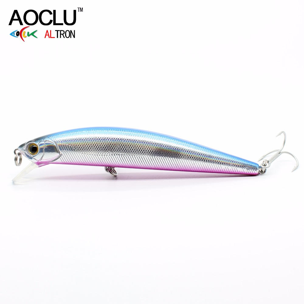 AOCLU wobblers Super Quality 5 Colors 11cm 23g Hard Bait Minnow Crank Fishing lures Bass Fresh Salt water 4# VMC hooks aoclu wobblers super quality 6 colors 60mm hard bait minnow crank popper stick fishing lures bass fresh salt water 10 vmc hooks
