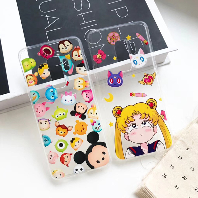 Sam Note8 Kitty Case, Melody / Mickey / Kitty Soft back phone...