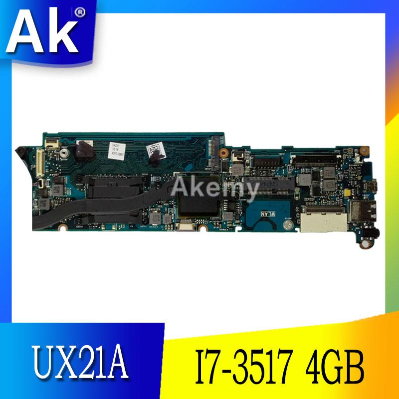 AK UX21A I7 3517 CPU 4GB RAM mainboard REV 2 0 For ASUS UX21 UX21A Laptop