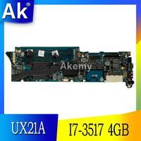 AK UX21A I7 3517 CPU 4GB RAM mainboard REV 2 0 Für ASUS UX21 UX21A Laptop motherboard 100% Getestet Arbeits|Motherboards|Computer und Büro -
