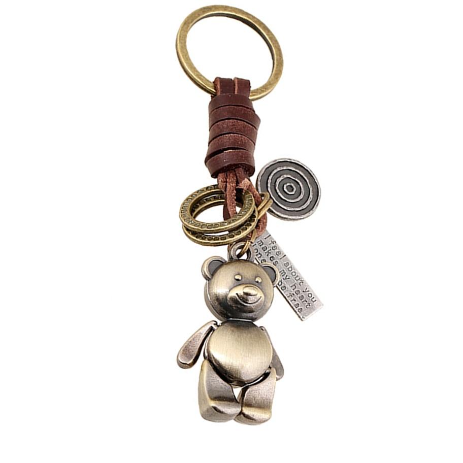 Leather Bear Keychain The Ursa Made in USA