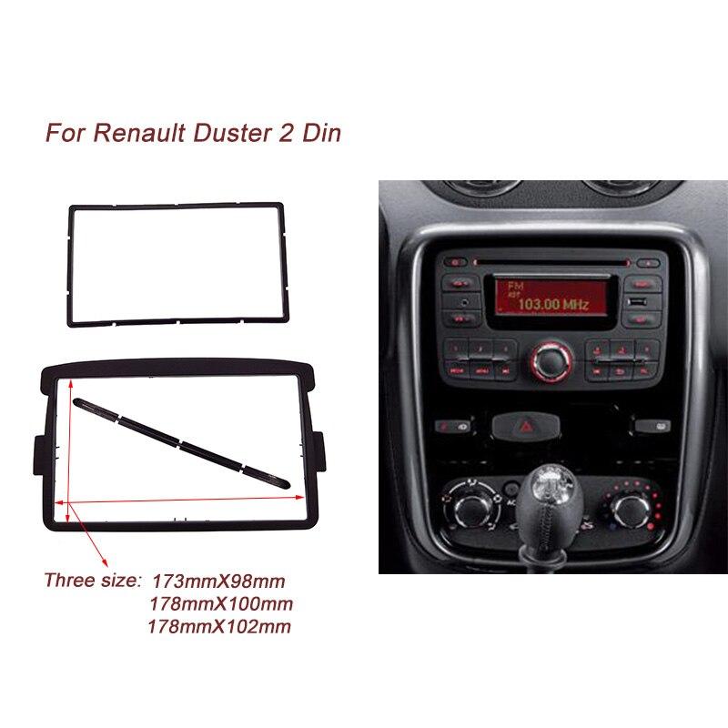 Haute qualité Voiture Radio Fascia Plaque Cadre Kit Pour RENAULT Duster 2010 + Logan Sandero DACIA Duster Dokker