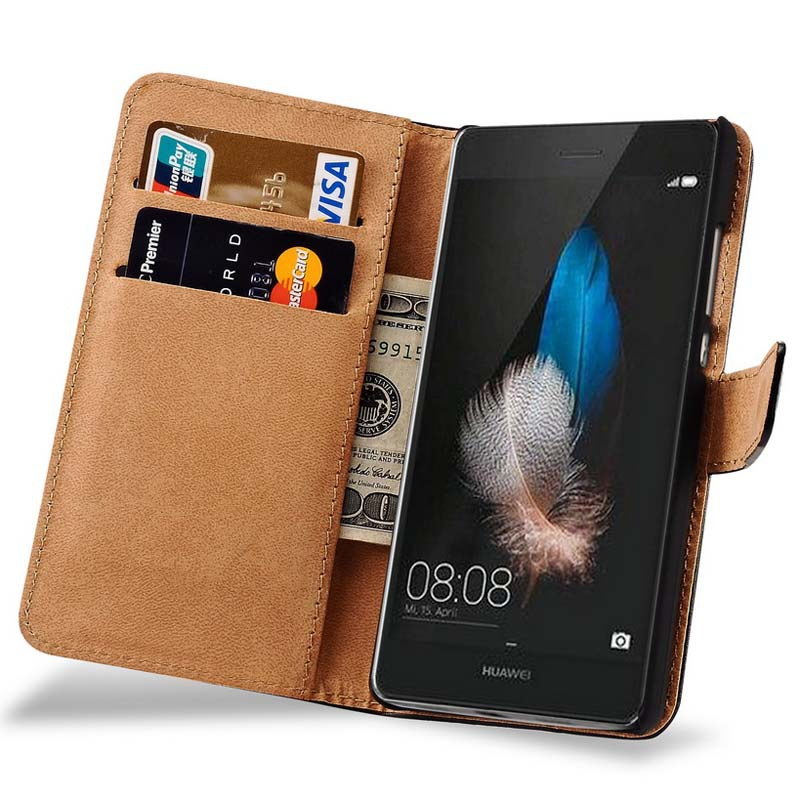 da9f11238b9ff2 For Huawei P8 Lite Luxury PU Leather Wallet Flip Cover Case For Huawei  Ascend P8 Lite Coque Phone Bag With Card Holder Stand on Aliexpress.com