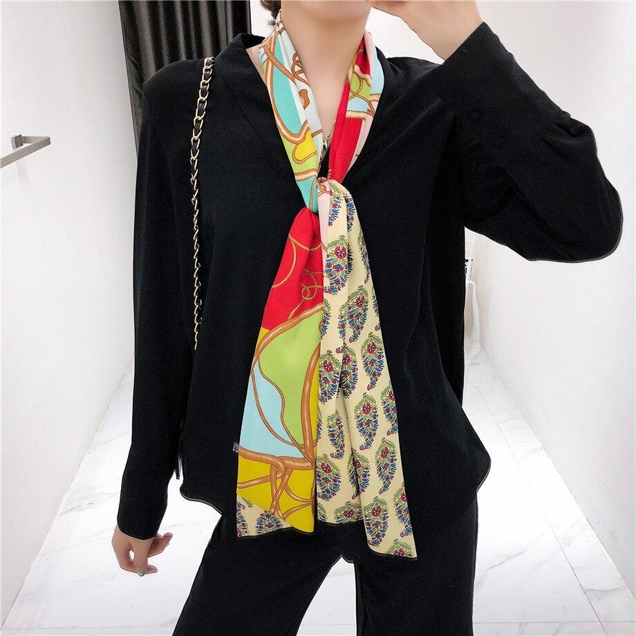 Luxury Brand Design Double-deck Twill Paisley Women   Scarf   Fashion Tie Neckerchief Silk   Scarves   For Ladies Head   Scarf     Wraps