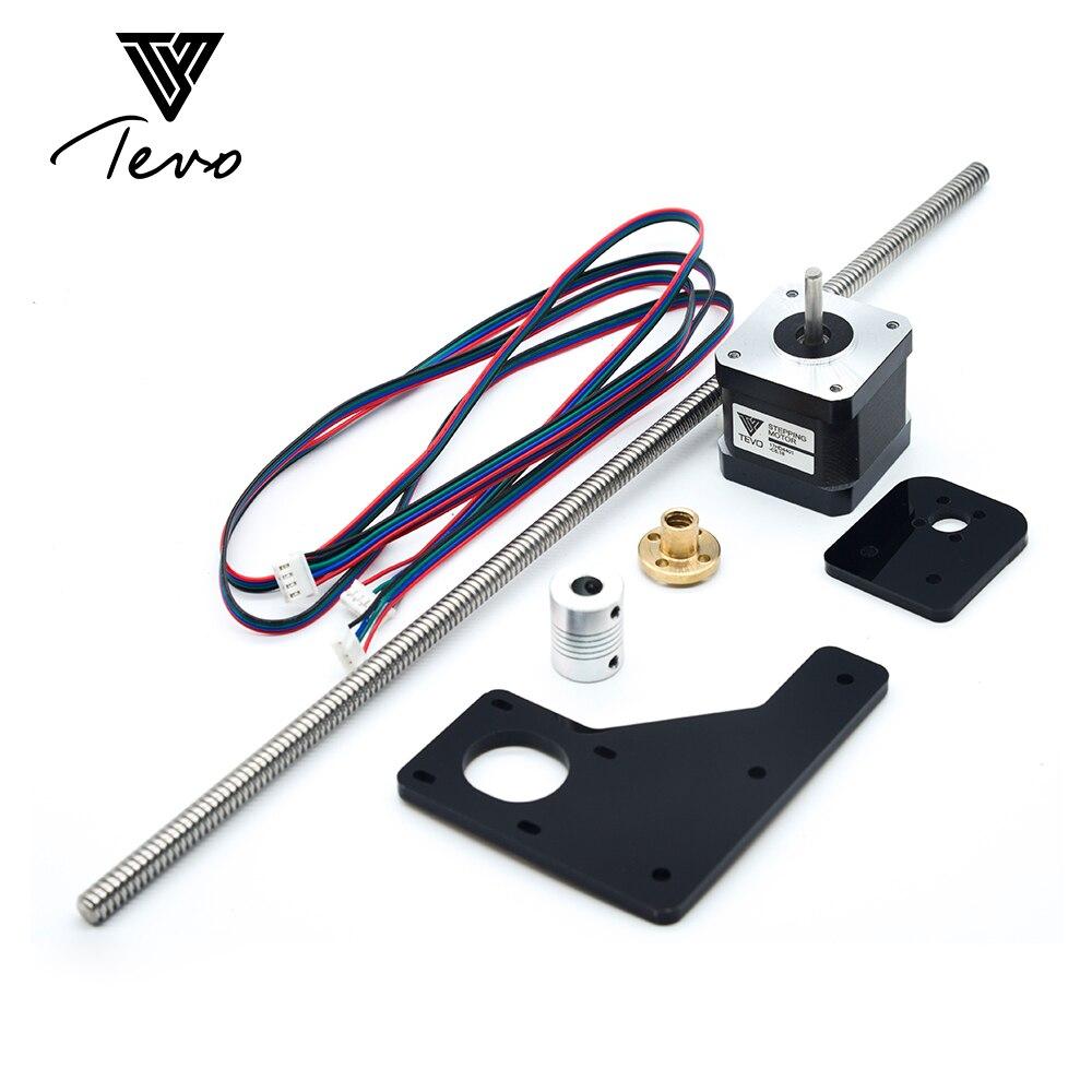 TEVO Tarantula Double Z Axes Mise À Niveau Kit Nema 42 moteur pas à pas et T8 * 2 plomb vis 375mm 8mm avec laiton cuivre pour 3D imprimante partie