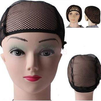 2Pcs Stretchable Fishnet Wig Cap Hair Net Mesh Wig & Weave Elastic Crochet Cap Wig Cap For Making Wigs With Adjustable Strap 1
