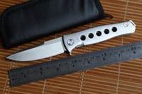 JUFULE Russian Dr Death Mayo Ball Bearing Folding D2 Blade Steel Handle Camping Hunting Survival Outdoor