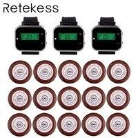 Ресторан гость пейджеры Беспроводная кнопка вызова официанта подкачки Системы для кафе 3 ресивер наручные часы + 15 кнопки вызова передатчик...