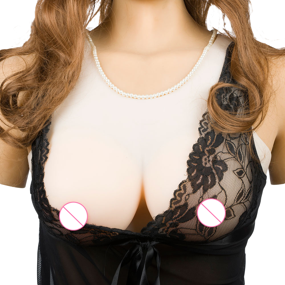 2Pcs Breast Forms Enhancer Sponge Fake Boobs Bra Tits Nipples Removable Top Pads