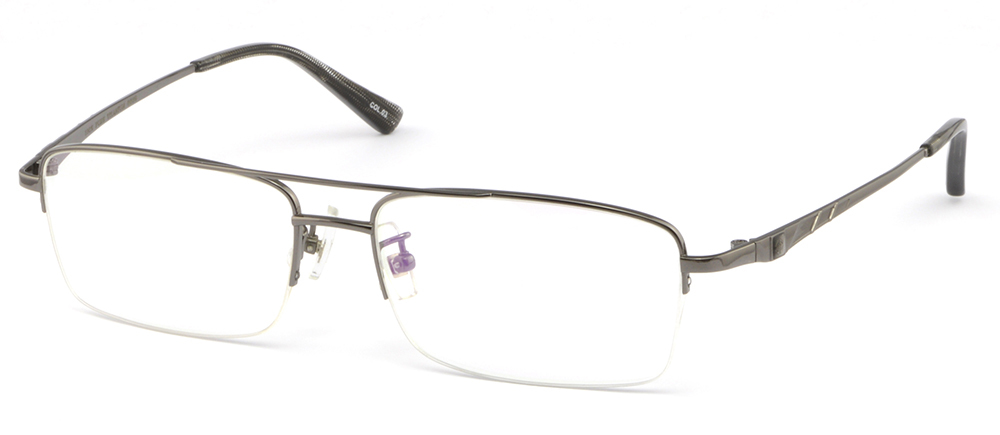 8c99daf1a6 Large Half Rimless Light Titanium Frame Prescription Glasses Double ...