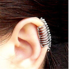 2019 New Earcuff Brinco Earings States Punk Wind Cool Skull Vertebrae Ear Bones Clip Earrings With No Pierced Adorn Article(China)