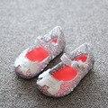 Детская обувь Мини девочка сандалии 2016 обычный дождь загрузки детские летние желе Мультфильм дети малышей дети Дождь обувь zapatos