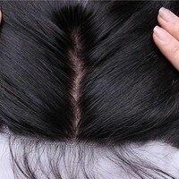 Шелк База 13x4 Синтетический Frontal шнурка волос Синтетическое закрытие волос прямо предварительно срывать Синтетический Frontal шнурка волос с р