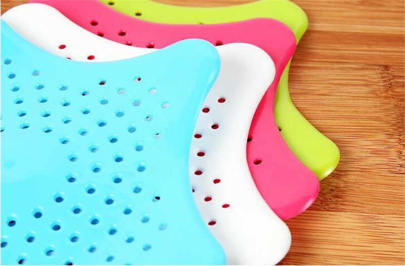 2018 nowa kuchnia silikonowa pięcioramienna gwiazda umywalka filtr łazienka frajerem odpływy podłogowe prysznic filtr kanalizacyjny filtr sitko