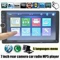 7 Дюймов USB TF FM AUX Сенсорный Экран Автомобиля Стерео радио 2 DIN MP5 Плеер с Камерой Парковки Bluetooth лучшие цена
