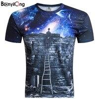 Wolf 2017 New Galaxy Space Print Creative Unisex Students T Shirt 3d Men S T Shirt