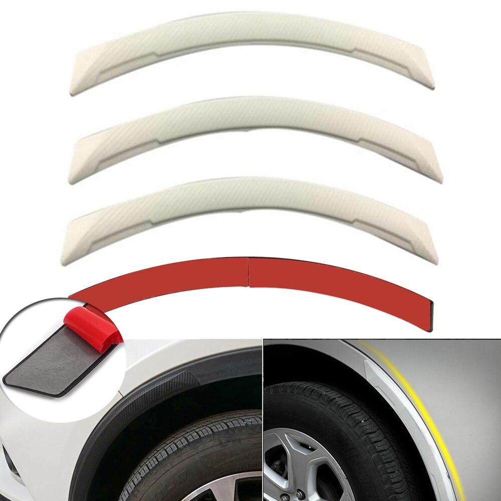Ultra Soft Car Fender Covers: 4pcs Universal White Carbon Fiber Car/Auto Fender Flares