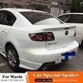 Подходит для Mazda 3 M3 черный спойлер 2006-2010 автомобильное украшение в виде хвостового крыла аксессуары ABS пластик белый цвет задний багажник сп...