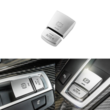 ABS Chrome Button Sticker Car Parking Switch Cover For BMW F10 F07 2011-2017 5 Series Interior Mouldings Accessories