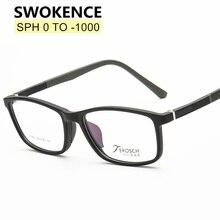 SWOKENCE SPH 0 to -10 Myopia Glasses Customizable Men Women TR90 Frame
