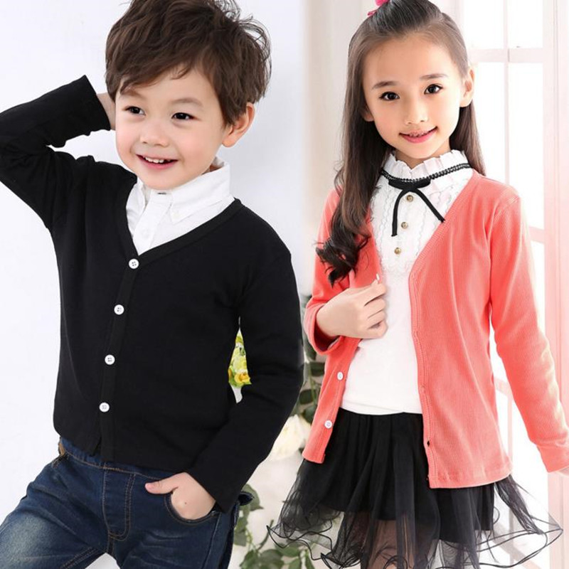 8 Candy Color New Cardigans For A Girl Solid Thin Single Breasted Children Clothing Spring Sweaters Girls Boys Cardigan AS-1567 vintage single breasted solid color furcal denim suspender skirt