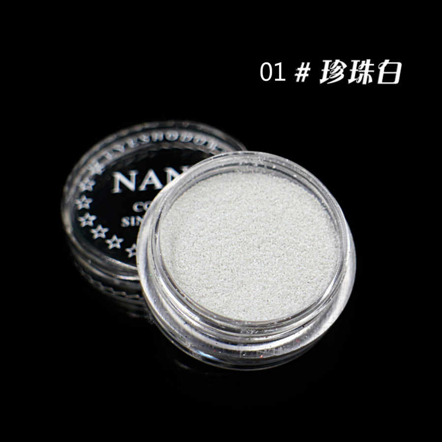 Perle Weiß 23 Farbe Glitter Lidschatten Pulver Pigment Mineral Spangle Make-Up Kosmetische Set Wasserdichte Lange anhaltende Glatte Make-Up