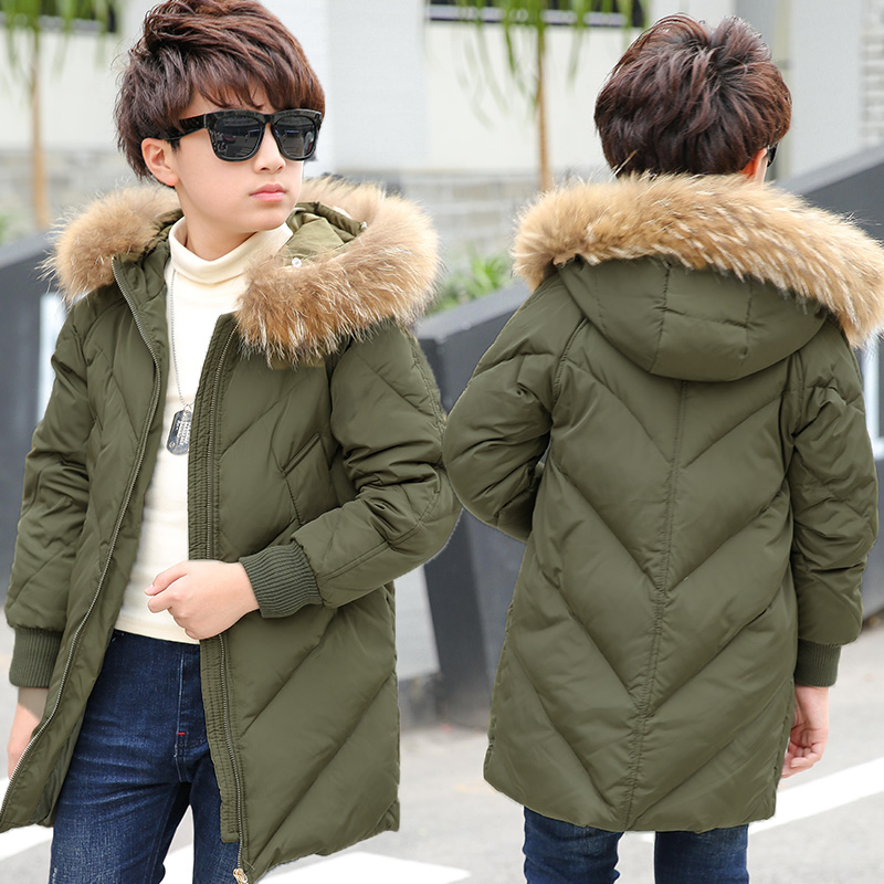 Berryinpaw 2017 children Down & Parkas 4-16T winter kids outerwear boys casual warm hooded jacket for boys solid boys warm coats цены онлайн
