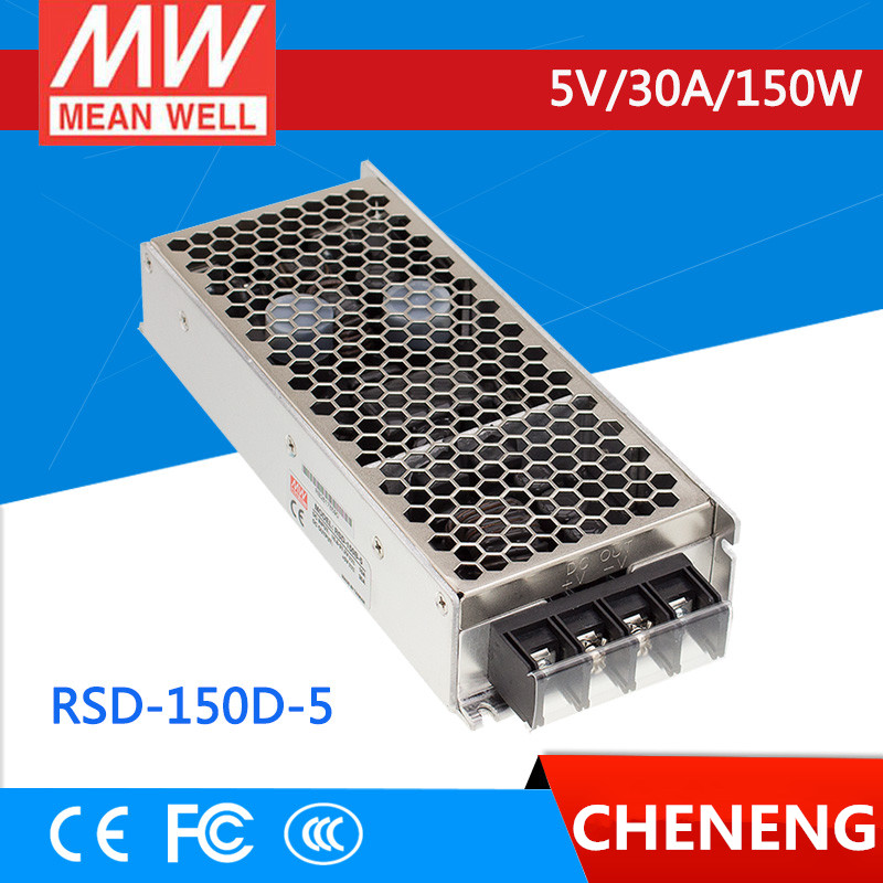 MEAN WELL original RSD-150D-5 5V 30A meanwell RSD-150 5V 150W Railway Single Output DC-DC Converter